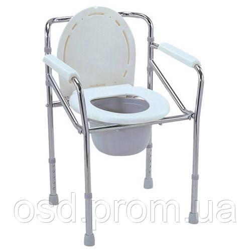 Купить туалет для инвалидов. Стул туалет складной FS 894