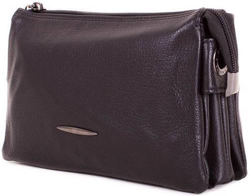 Барсетка кожаная мужская горизонтальная Wanlima W12027551467-black