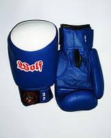 Перчатки боксерские ТМ Wolf виниловые (8,10,12 oz; черный,красный,синий)