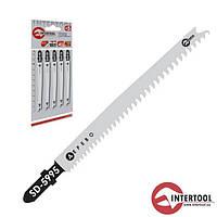 Intertool SD-5995 Полотно пильное для лобзика (по дереву, ламинату) 90мм (400/10)