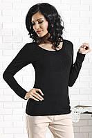 Женская кофточка черного цвета с длинным рукавом Miranda Top-Bis, коллекция осень-зима 2015