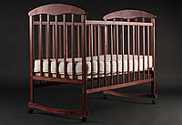 Кроватка детская Наталка ольха тёмная, самые низкие цены