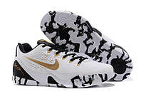 Мужские кроссовки Nike Kobe 9 EM (K9_EM_13), белые с чёрным