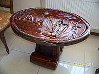 Стол журнальный, резной стол из дерева