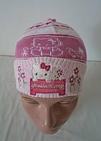 """Детская шапка """"Hello Kitty"""" малютка"""