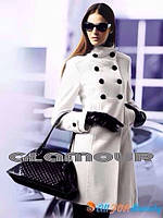 Пальто Белое с пуговицами