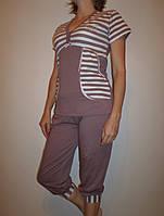Женская пижама №9297 капри