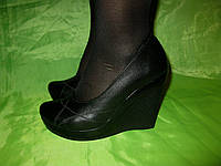 Туфли на платформе натуральная кожа