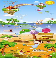 Теплый развивающий коврик Babypol Морская прогулка (оригинал) Новинка!