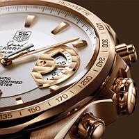 Часы Tag Heuer Carrera calibre 17 White, механика мужские