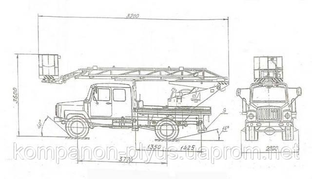 Схема работы автовышки АП