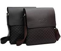 Молодежная Кожаная мужская сумка ПОЛО. Сумки для мужчин. Модные сумки. Бизнес сумки.Сумка мужская.Код:КСЕ31