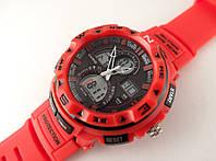 Часы спортивные G-Shock, мульти подсветка, красные