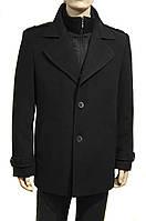 """Мужское зимнее пальто """"West Fashion"""". Черное"""