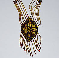 Ожерелье из бисера Эдельвейс шоколадный