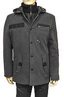 Мужское зимнее пальто. Серое. 52 размер