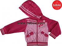 Курточка ветровка для девочки на флисе осень-весна 3, 4, 5 лет. Турция! Детская верхняя одежда!