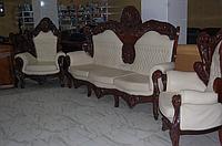 Эксклюзивный комплект кожаный барокко Бельгия 3+1+1