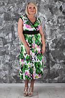 Оригинальное длинное летнее платье больших размеров