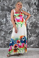 Нарядный летний сарафан с цветочным принтом