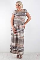 Нарядное платье больших размеров с открытой спинкой
