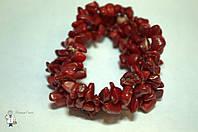 Браслет из красного коралла