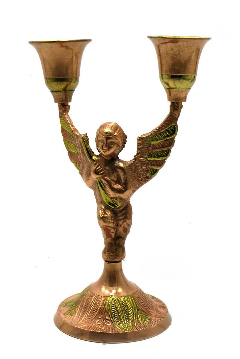 Подсвечник декоративный из бронзы Ангел