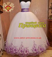 """Свадебное платье """"Мирославка"""" (фиолетовое)"""