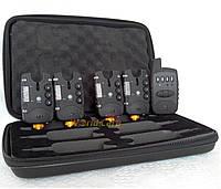 Набор сигнализаторов поклевки FA211-4 (с пейджером 4+1)