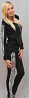 Женский спортивный костюм черный, фото 1