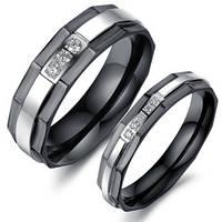 Кольца для влюбленных с фианитами, в наличии жен. 16.5, 17.3, муж. 19.0, 20.0