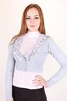 Молодежное  болеро с длинным рукавом, фото 1