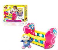 """Игрушка для девочек кукольный набор """"Малышка в колыбели"""""""
