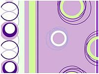 Бязь набивная диз: 30-0266 violet