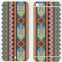 Виниловая наклейка для iPhone 5/5s Вышиванка с гербом
