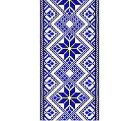 Виниловая наклейка на телефон L Синяя вышиванка