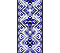 Виниловая наклейка на телефон M Синяя вышиванка
