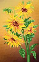 Цветы солнца схема на атласе для вышивки бисером