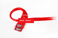 Прямые фантастические красочные накладные пряди на заколках-клипсах, 2 шт в упаковке, цвет - красный