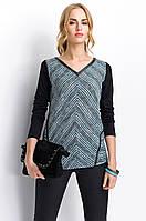 Женская блуза в косую полоску с длинным рукавом. Модель Р31 Sunwear, коллекция осень-зима 2015