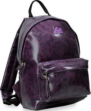 Стильный, компактный, женский рюкзак из кожзама 12 л. Marsupio York Casual 12 Viola, 921126