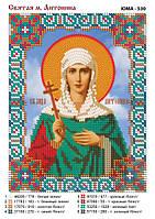 Схема под вышивку бисером на атласе именной иконы Св. М. Антонины