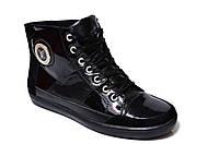 """Зимние женские ботинки """"Grossi"""" . Черные. Натуральный мех. Натуральная кожа"""