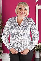 Стильная приталенная блузка №407