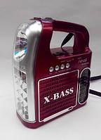 Фонарь радио приемник переносной NNS 096 U с FM, USB, Cardreader светодиодный, аккумуляторный, радиоприемник