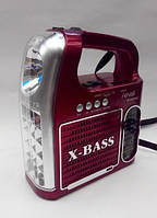 Фонарь радио приемник переносной NNS NS 095U с FM, USB, Cardreader светодиодный, аккумуляторный, радиоприемник