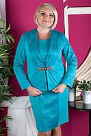 Строгий женский костюм (платье + пиджак)