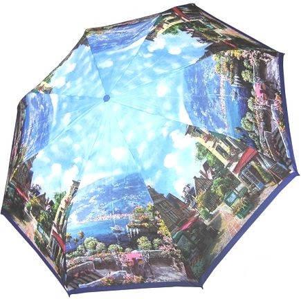 Зонт для женщин, с ярким рисунком, полный автомат ZEST Z23945-27 Антиветер