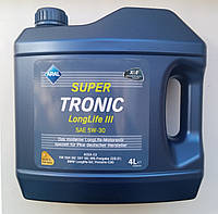 Синтетическое моторное масло Aral SUPER TRONIC Longlife III 5W-30 ✔ емкость 4л.