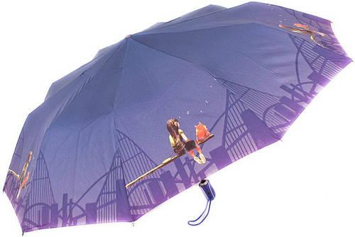 Женский зонт яркий, эксклюзивный, полный автомат ZEST Z239666-31 Антиветер